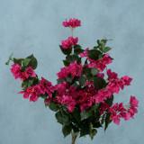 Buchet flori artificiale Bougainvillea Fucsia / Verde, H70 cm