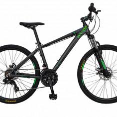 Bicicleta MTB HT 26 FIVE Hornet cadru aluminiu culoare gri verde