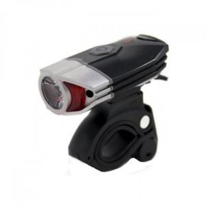 Lanterna LED, pentru bicicleta, 300 lumeni, USB, 4 functii, negru/argintiu, YTGT-50002.18