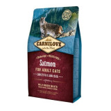 Hrana uscata pentru pisici Carnilove, Sensitive & Long Hair, Somon, 2 Kg