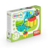Joc copii tip lego 2 in 1, fete si baieti, Qboidz Elefant