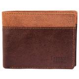 Portofel barbati, Leonardo Verrelli, protectie RFID, piele, maro bicolor