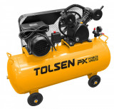 Cumpara ieftin Compresor ulei Tolsen Force Xpress, vas 100 l, 2200W, 8 Bar, 2 racorduri,...
