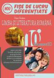 Limba și literatura română. Fișe de lucru de predare-învățare diferențiată. Clasa a X-a Semestrul II