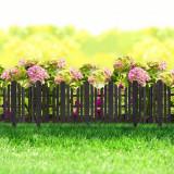 Bordura pt. pat de flori / gard - 56 x 20 cm - Negru