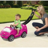 Masina Mobile Tikes cu maner pentru impins Roz, Little Tikes
