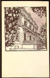 Carte Postala Ilustrata, Arad, Intrarea principala a liceului Moisa Nicoara