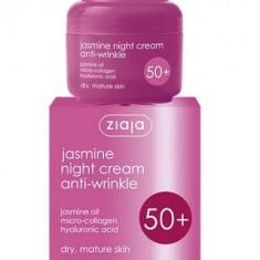 Crema de fata antirid de noapte 50+ (SPF6) cu ulei de iasomie, colagen si acid hialuronic ziaja 50 ml