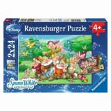 Cumpara ieftin Puzzle 2 in 1 - Cei 7 pitici, 48 piese