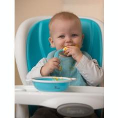 Set tacamuri copii BO Jungle lingurita si furculita albastre flexibile