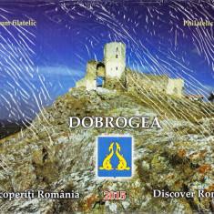 ROMANIA 2015 - ALBUM FILATELIC - DESCOPERITI ROMANIA, DOBROGEA - LP 2078 a