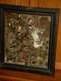 Icoana pe sticla de Ion Pop 47 cm cu 42 cm cu rama