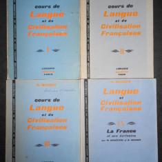 G. MAUGER - COURS DE LANGUE ET DE CIVILISATION FRANCAISES 4 volume