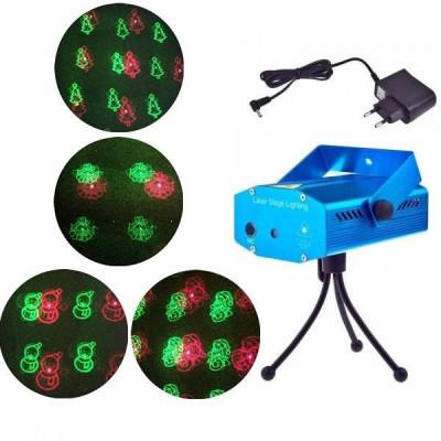 Laser Proiector Figurine Craciun Jocuri de Lumini Rosu Verde SD08 foto