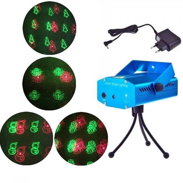 Laser Proiector Figurine Craciun Jocuri de Lumini Rosu Verde SD08