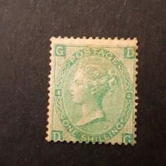 154-GB-ANGLIA-1865-Timbru Mi 27 nestampilat,verde  cu sarniera, =1400 euro
