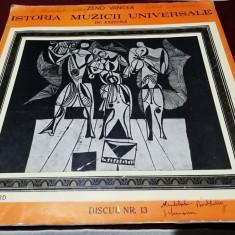DISC VINIL VINIL ZENO VANCEA ISTORIA MUZICII UNIVERSALE IN EXEMPLE NR 13