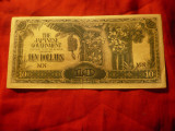 Bancnota 10 dolari Borneo ocupatie Japoneza 1941-1942 cal. F.Buna