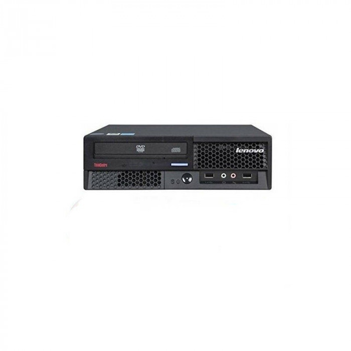 Sistem desktop Lenovo ThinkCentre M58p Intel Core 2 Duo E8400 4GB DDR3 120GB SSD DVD Windows 10 Home Black - Refurbished