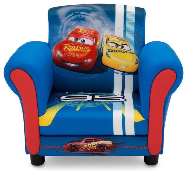 Fotoliu cu cadru din lemn Disney Cars Racers