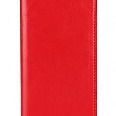 Husa tip carte cu stand (Crazy Horse) rosie pentru Apple iPhone X/XS