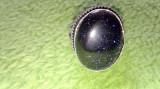 Inel argint placat cu sunstone/piatra soarelui