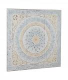 Decoratiune din metal alb albastru crem vintage pentru perete Ayat 91 cm x 3.5 cm x 91 h Elegant DecoLux, Bizzotto