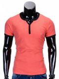 Cumpara ieftin Tricou pentru barbati, roz, simplu, slim fit, mulat pe corp, bumbac - S651