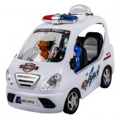Masina de politie, 17 x 8 x 11 cm, 3 ani+, Oem