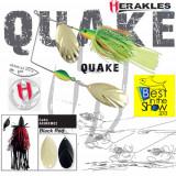 Spinnerbait Herakles Quake, Black/Red, 42g