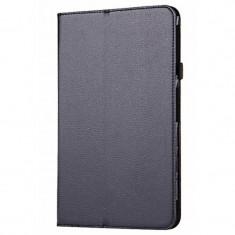 """Husa SAMSUNG Galaxy Tab A (10.1"""") 2016 T585 - Litchi Piele (Negru)"""