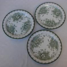 Trei farfurii pentru aperitiv din portelan suedez Rorftrand
