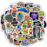 Set Stickere 50 buc bicicleta, telefon, auto, laptop spatiul cosmic