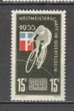 Saarland.1955 C.M. de ciclism Saarbrucken  AZ.201, Nestampilat
