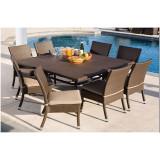 Set - masă cu 8 scaune din ratan