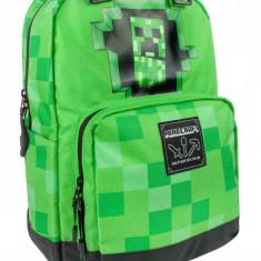 Ghiozdan Minecraft ORIGINAL Creeper Green licenta Jinx 44cm, Unisex, Rucsac