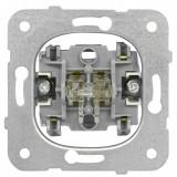 Intrerupator dublu Schrack Visio50 EV100009 incastrat alb conexiune elastica