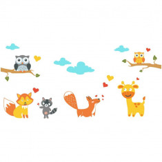 Sticker perete copii Prin padure 215 x 110 cm