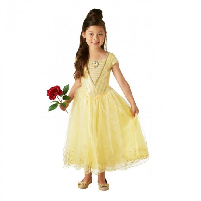 Costum Disney Deluxe Belle, varsta 7-8 ani, marime L, Galben