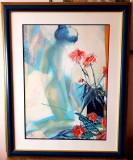 Tablou marae nud - acuarela semnata - Franata