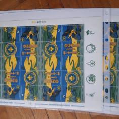 Romania 1997-LP 1442c-Cercetasii Romaniei-2coli cu viniete diferite