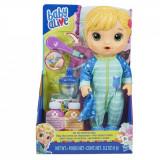Papusa interactiva Baby Alive, Bebelusul bolnavior, Blond