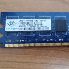 Ram PC Nanya 1GB DDR2 PC2-6400U NT1GT64U8HB0BY-25D