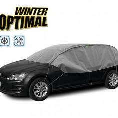 Semi Prelata auto, husa exterioara Skoda Fabia hatchback, pentru protectie impotriva inghetului si soarelui, marime M-L Hatchback Combi, lungime 2...