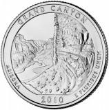 SUA - QUARTER GRAND CANYON, ARIZONA 2010 D - UNC /SERIA PARCURI NATIONALE, America de Nord