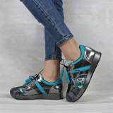 Cumpara ieftin Pantofi piele naturala pentru femei 397 40 Argintiu