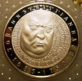 10.009 GERMANIA RFG JOHANN SEBASTIAN BACH 10 DEUTSCHE MARK 2000 G PROOF ARGINT, Europa