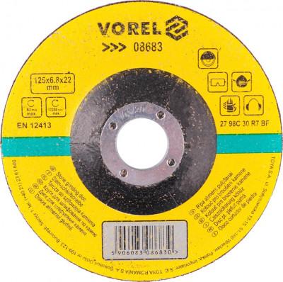 Disc pentru slefuit piatra 125x6.8x22 mm VOREL foto