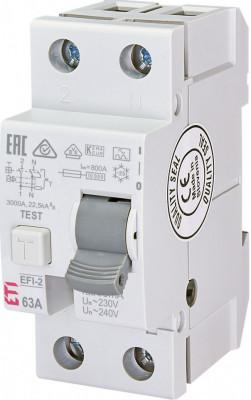Siguranta automata diferentiala RCCB EFI-2 A 63/30mA eti foto