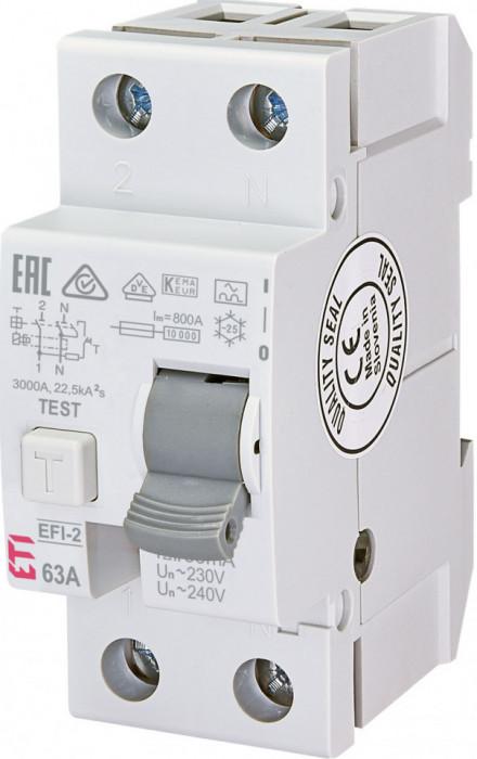 Siguranta automata diferentiala RCCB EFI-2 A 63/30mA eti